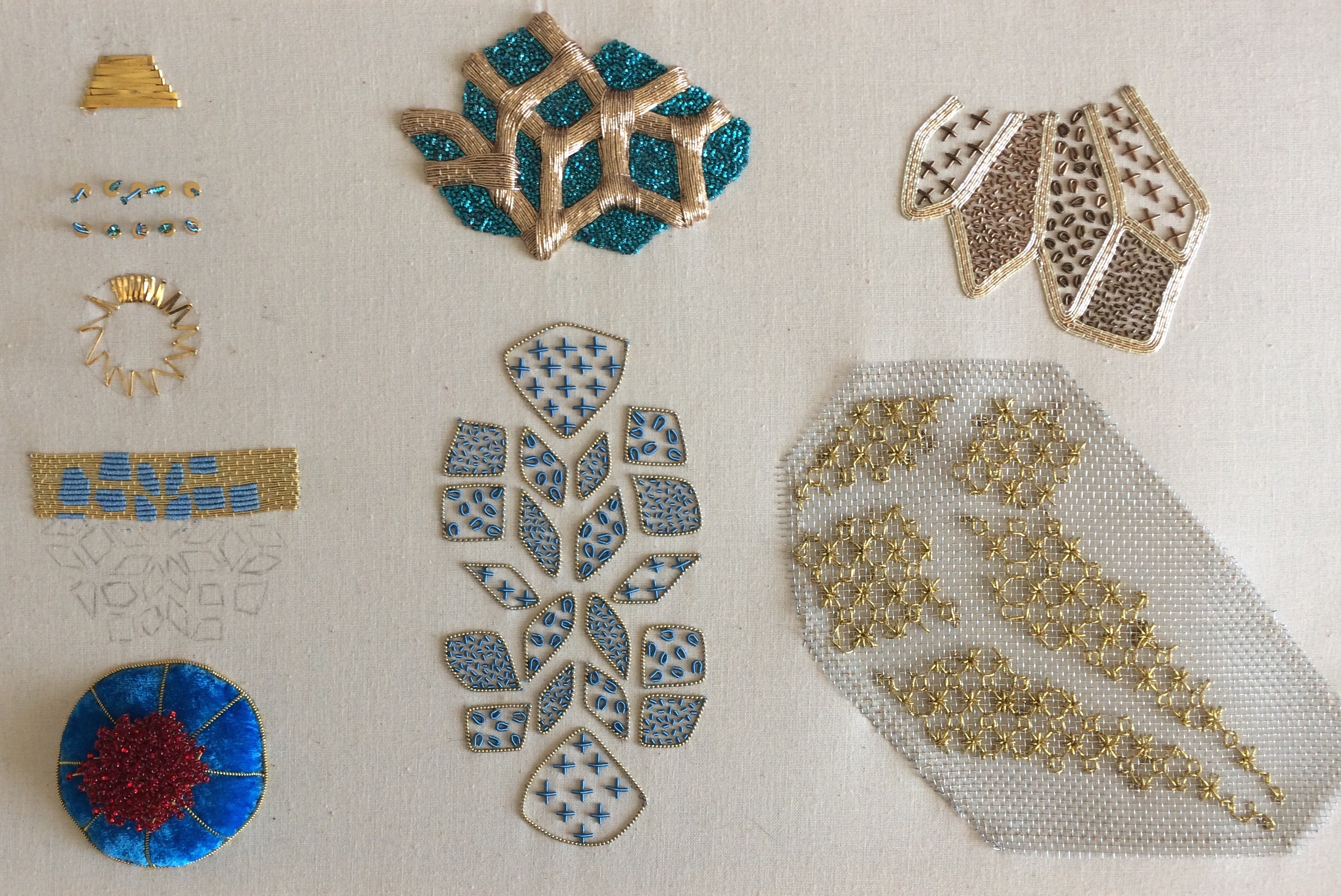 Goldwork samples