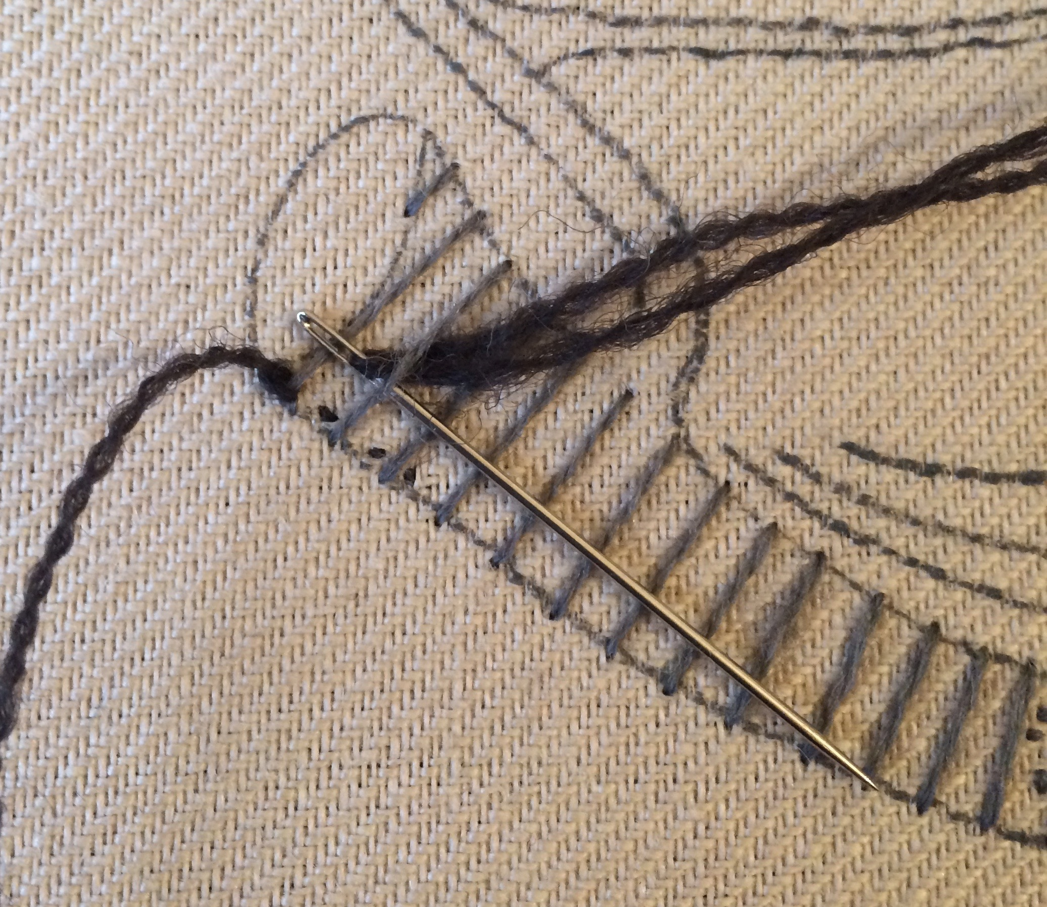 How To Work Raised Stem Stitch Well Embroidered