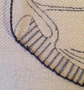 raised stem stitch